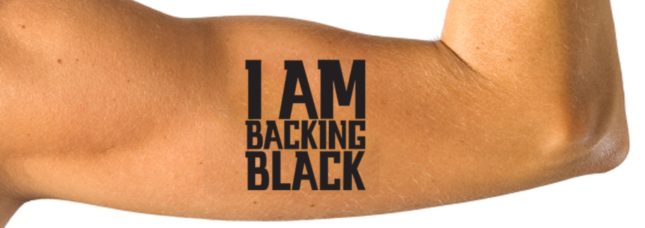 backing black
